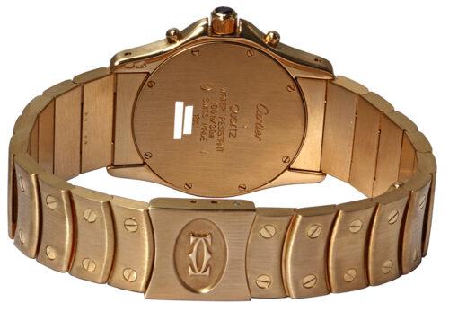Cartier 18k Santos Ronde Chronograph