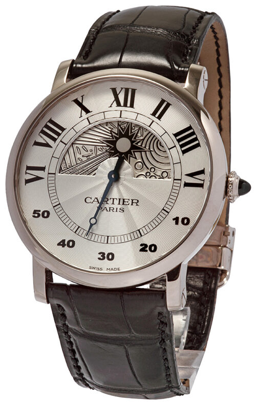 Cartier Rotonde Juir-Nuit White Gold
