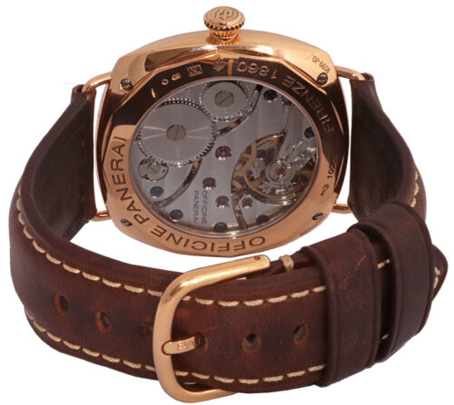 leather brown band panerai