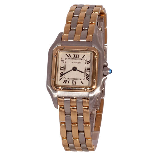 Cartier lady Panther steel and gold