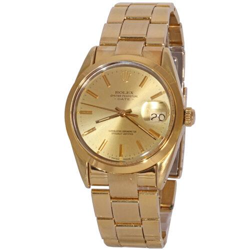 Rolex gold shell Date
