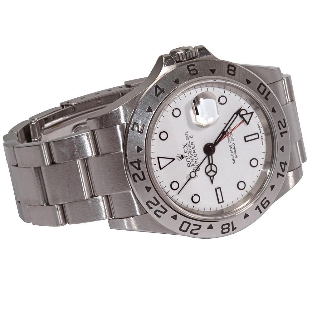 Rolex Explorer II 16570 white dial